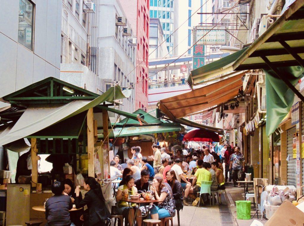 Graham Street Market Hong Kong.