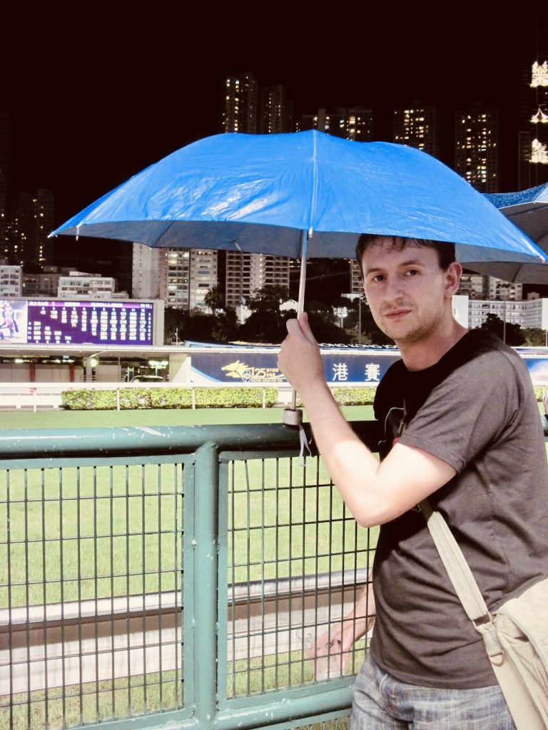 Happy Valley Racecourse Hong Kong.