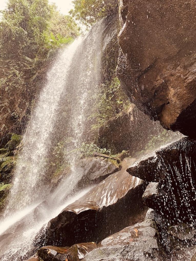 Kulen Waterfall Siem Reap Cambodia.
