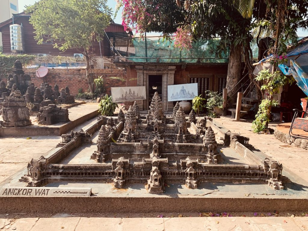 Miniature Replica of Angkor Wat.