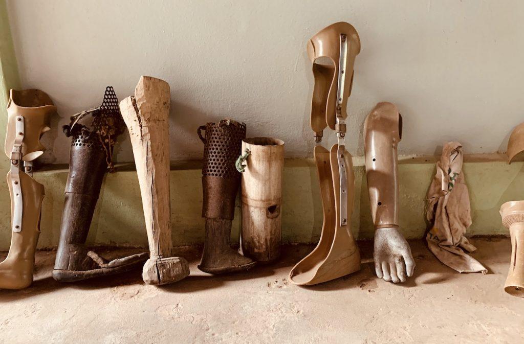 Prosthetic limbs Cambodia Landmine Museum.