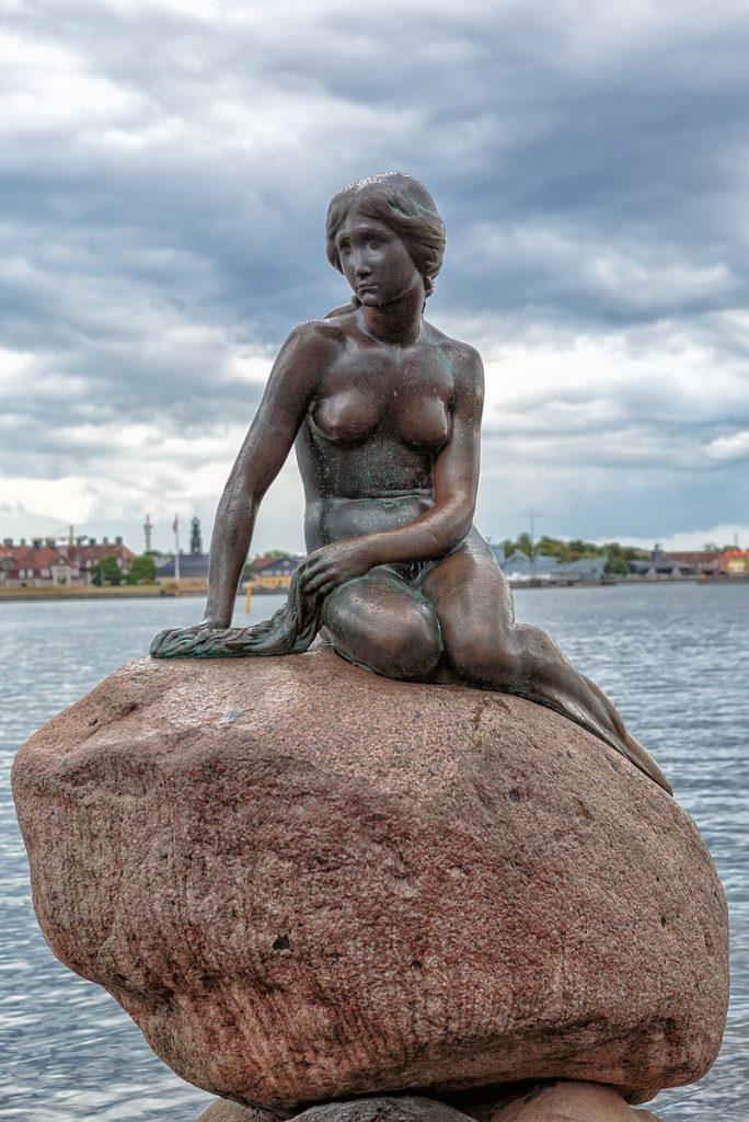 The Little Mermaid Statue Copenhagen Denmark.