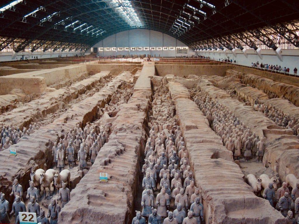 The Terracotta Warriors China.
