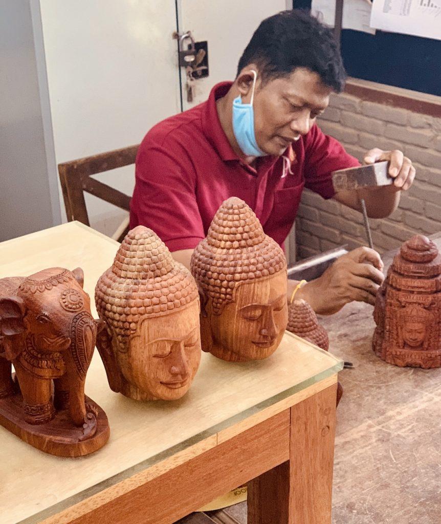 Traditional handmade crafts Siem Reap.