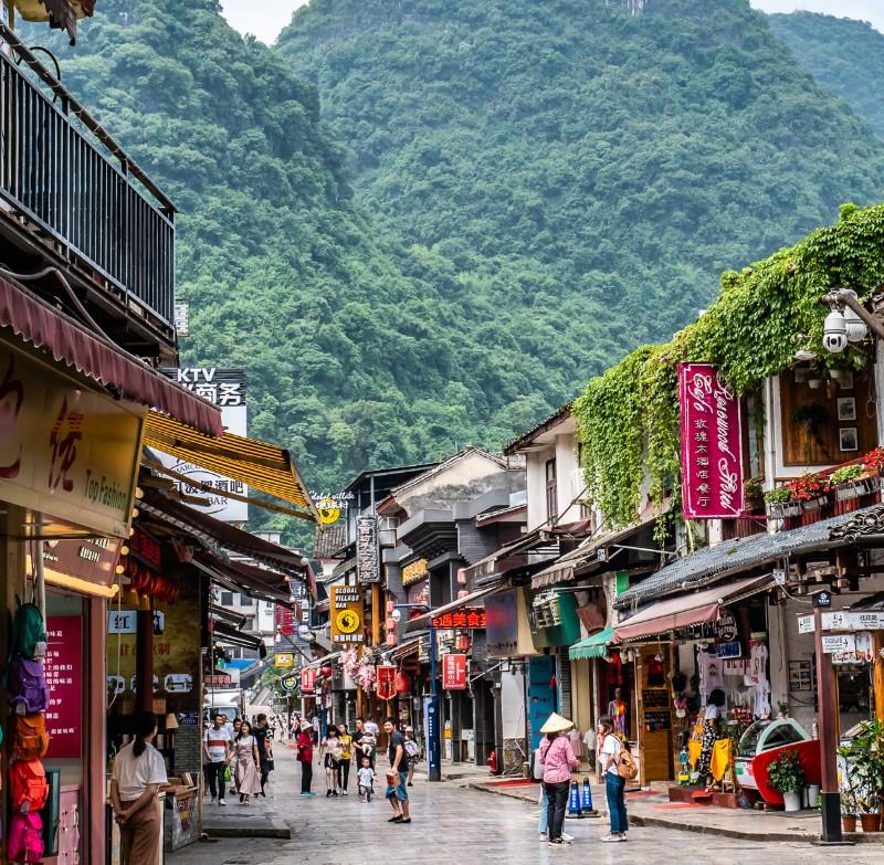 Yangshuo City China.