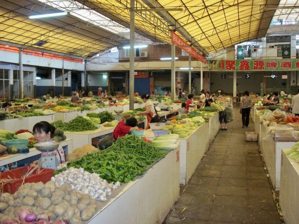 Yangshuo Farmer's Market China.