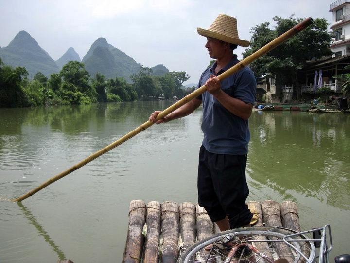 Yulong River cruise Yangshuo China.