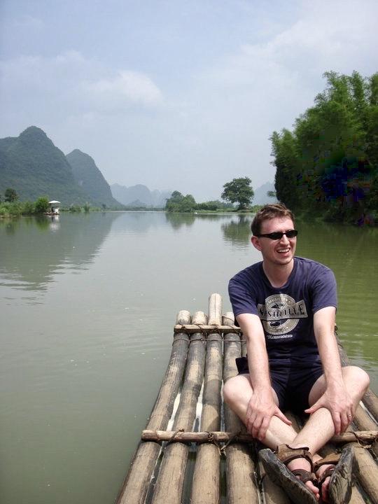Yulong River cruise Yangshuo County China.