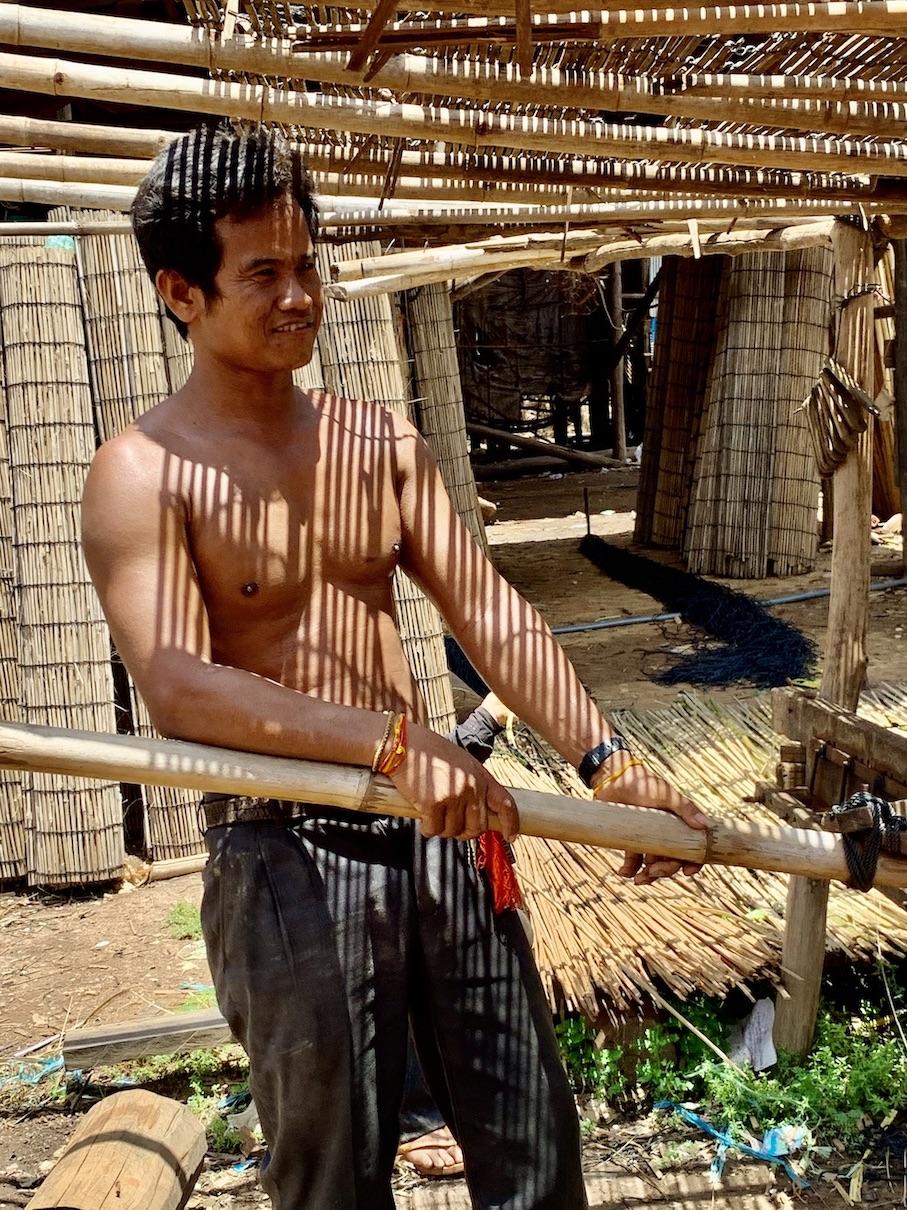 Bamboo weaver Cambodia.