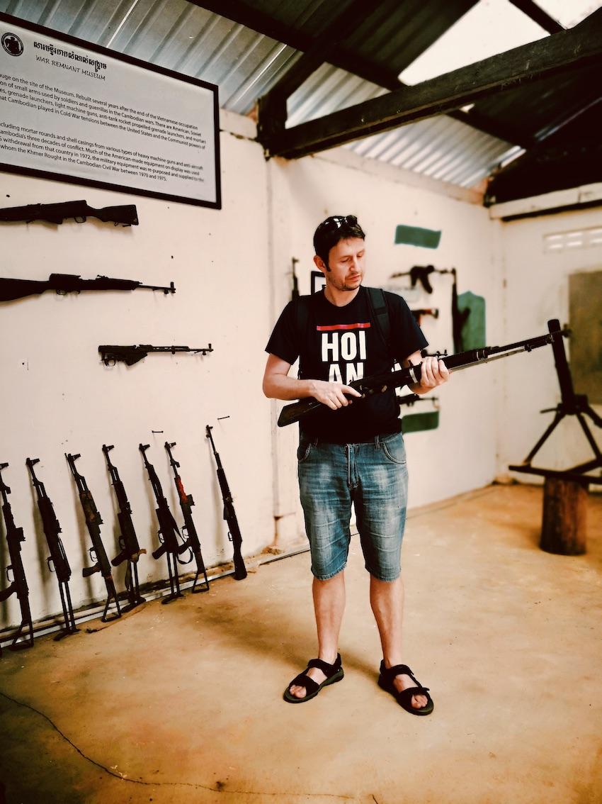 Historical gun collection Siem Reap.