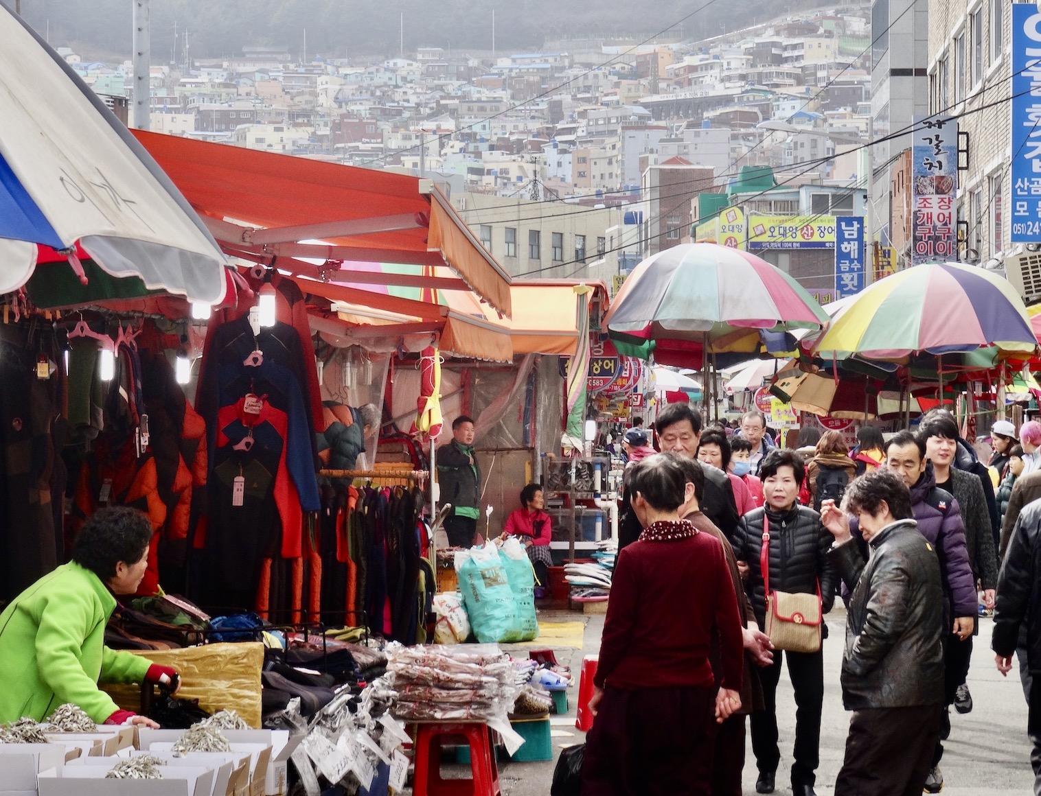 Jagalchi Fish Market Busan.