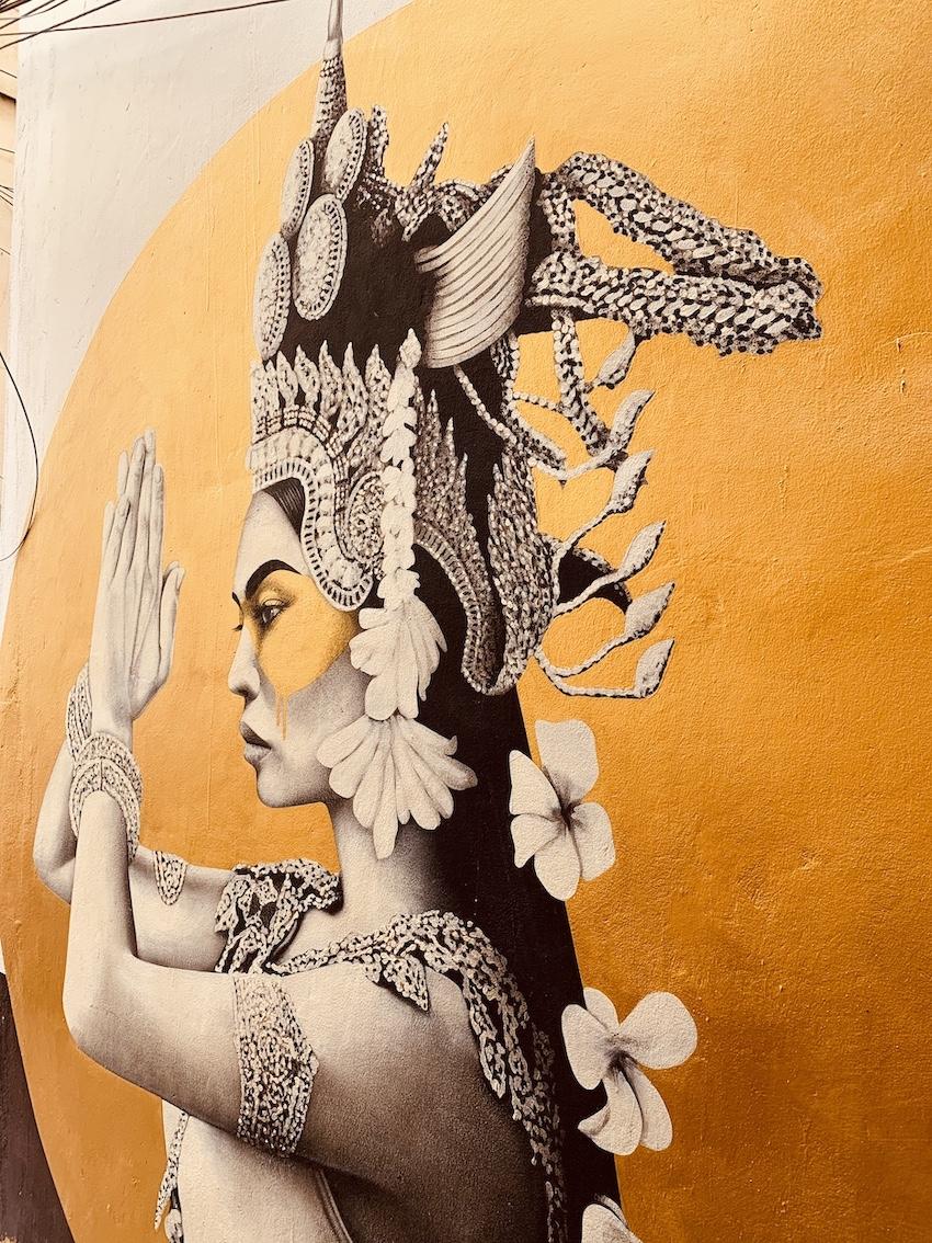 Kandalis mural Fin DAC Coconut Alley Siem Reap.