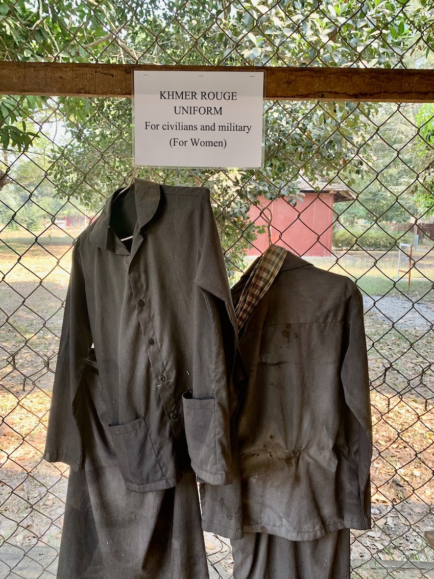 Khmer Rouge uniforms Siem Reap.