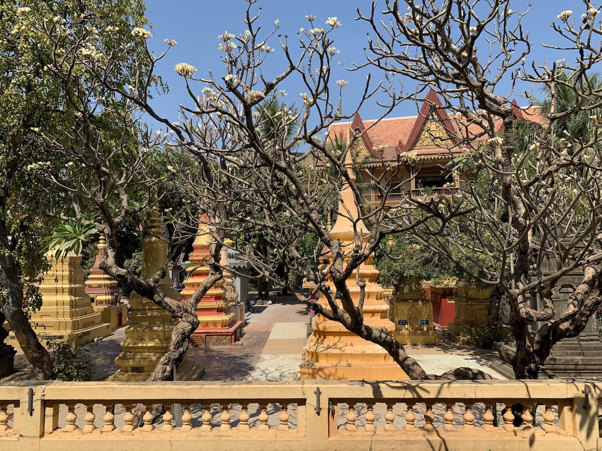 Khmer cemetery Wat Damnak Pagoda.