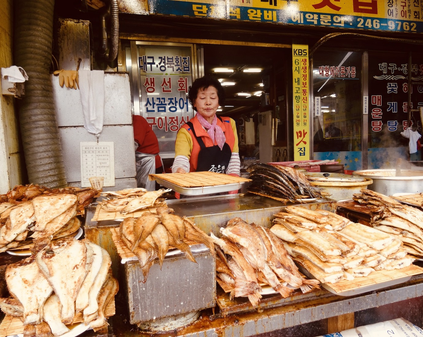 Local vendor Jagalchi Fish Market.