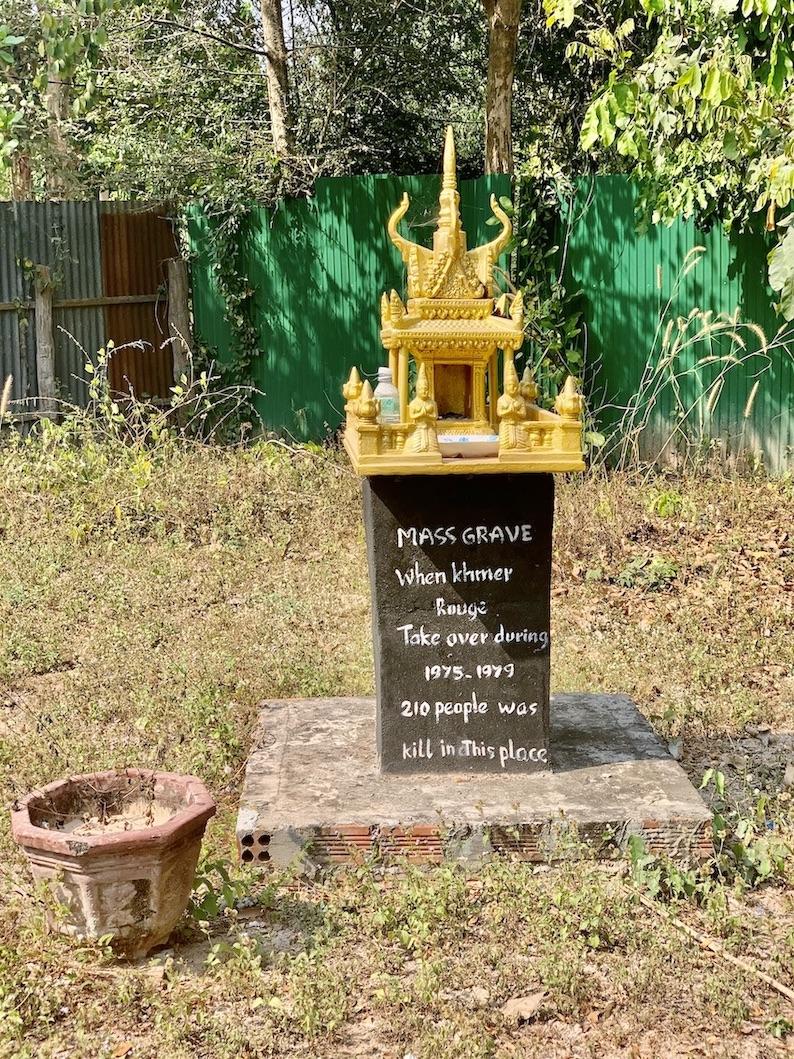 Mass grave Siem Reap Cambodia.