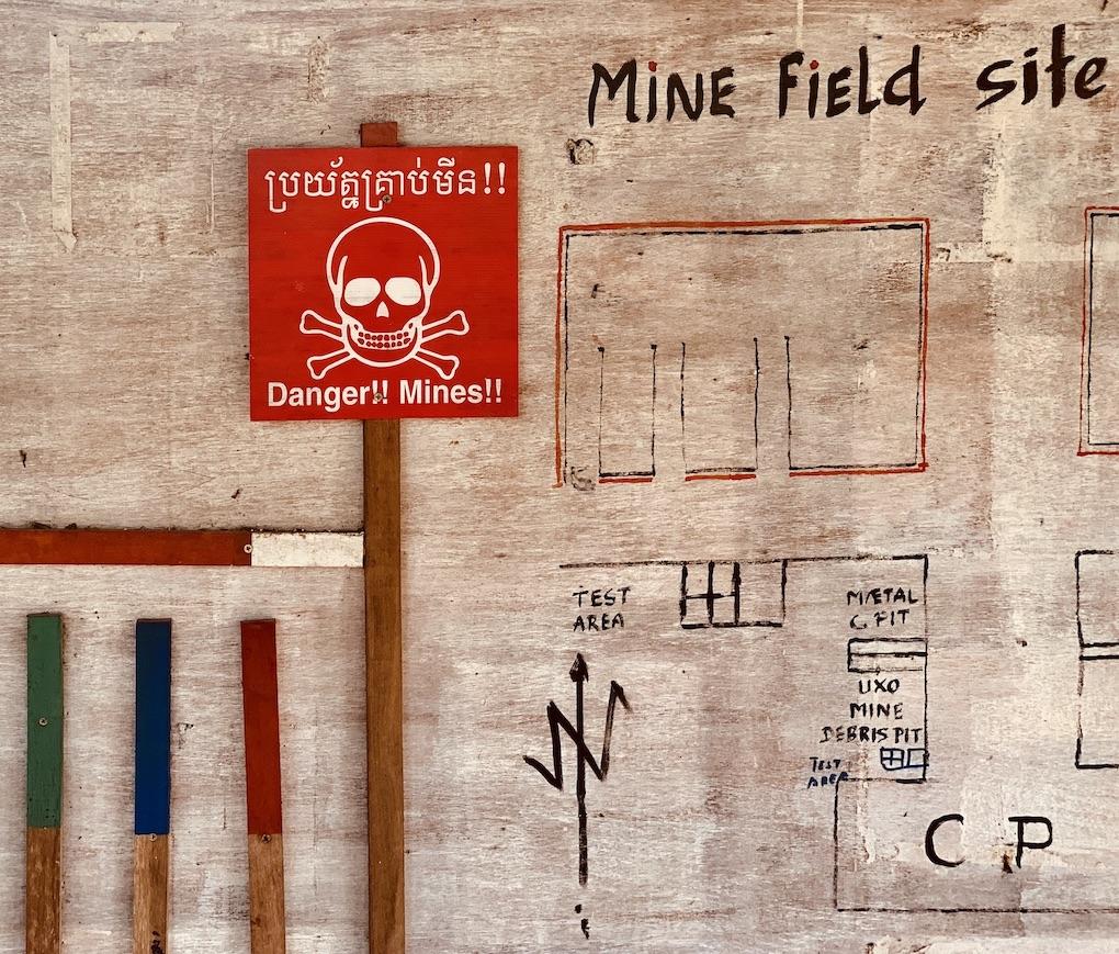 Mine field site Siem Reap.