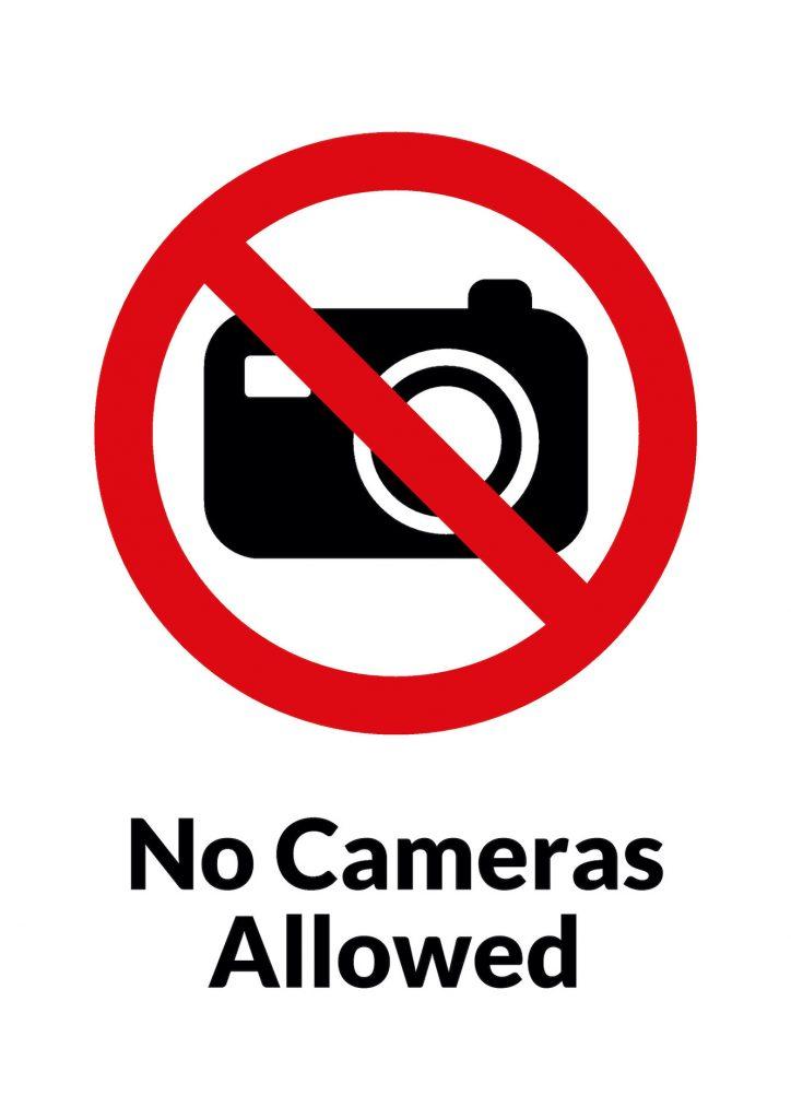 No Photography Wren Library Cambridge.