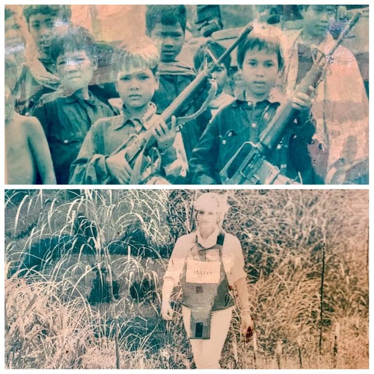 Old photos War Remnant Museum Siem Reap.