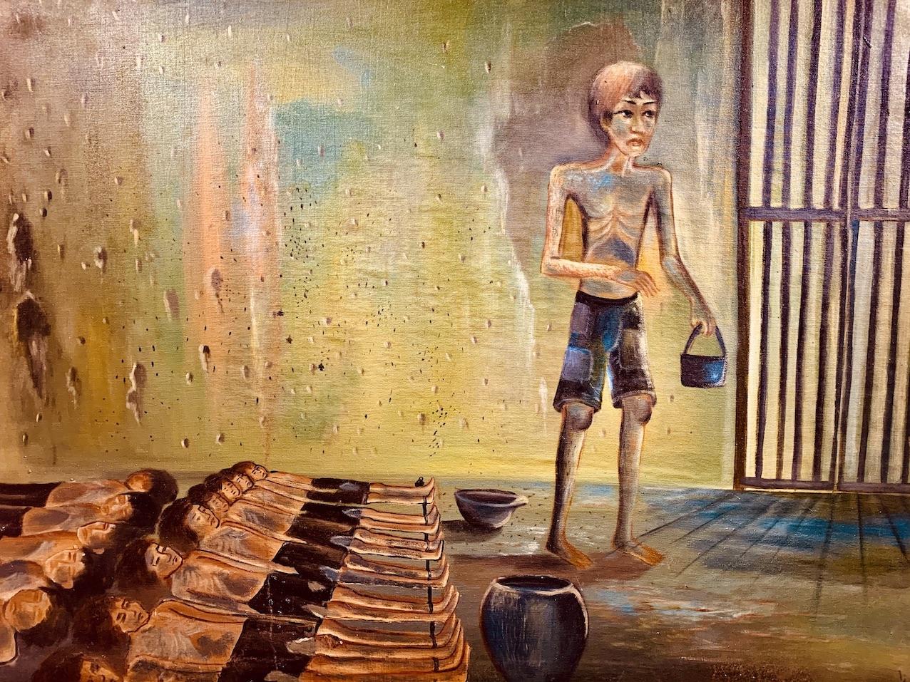 Painting Killing Fields Siem Reap.