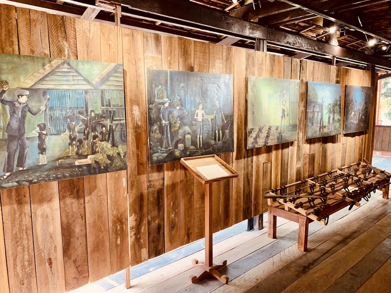Paintings from Killing Fields Siem Reap.