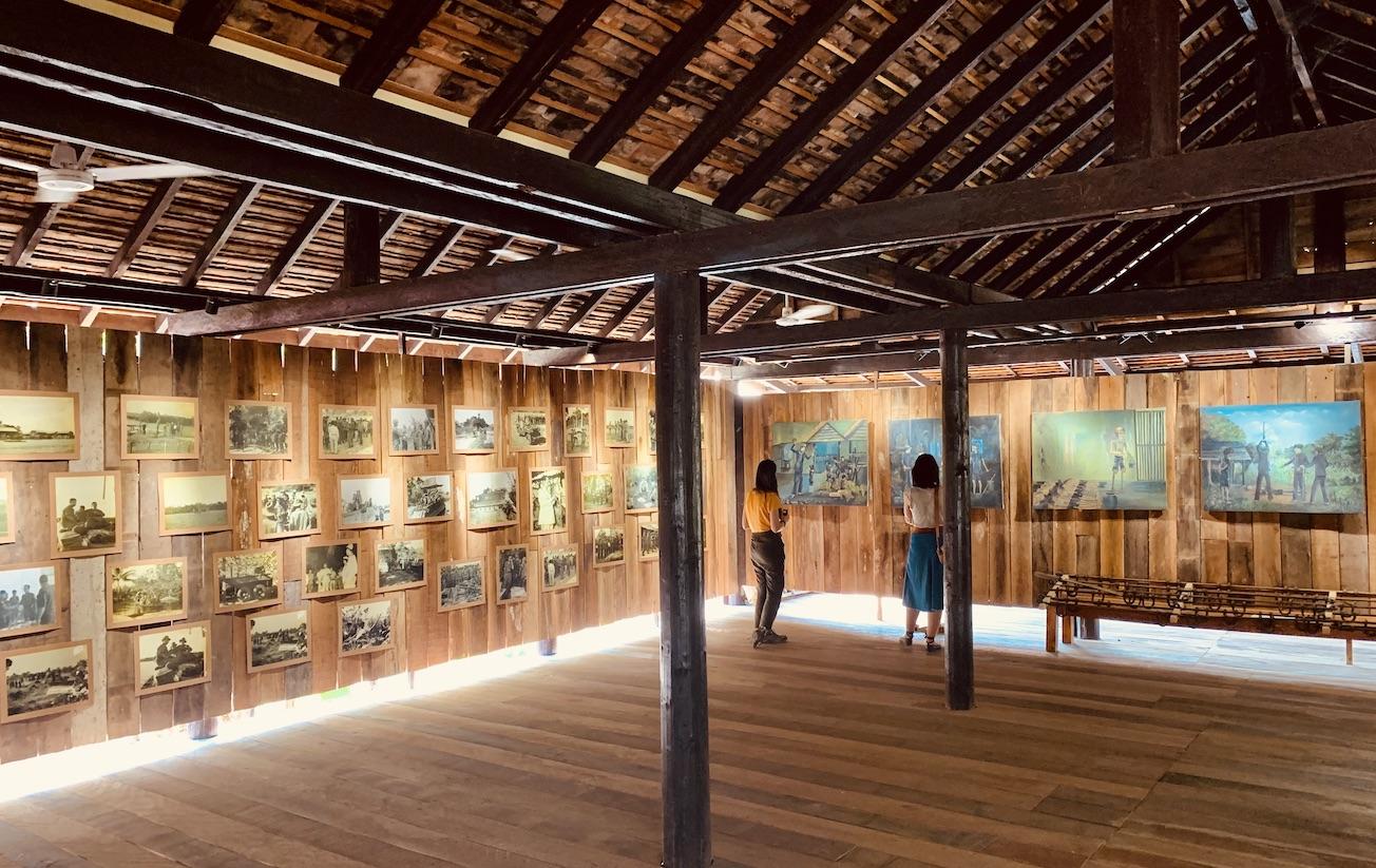 Photo exhibition Wat Thmey Pagoda Siem Reap.