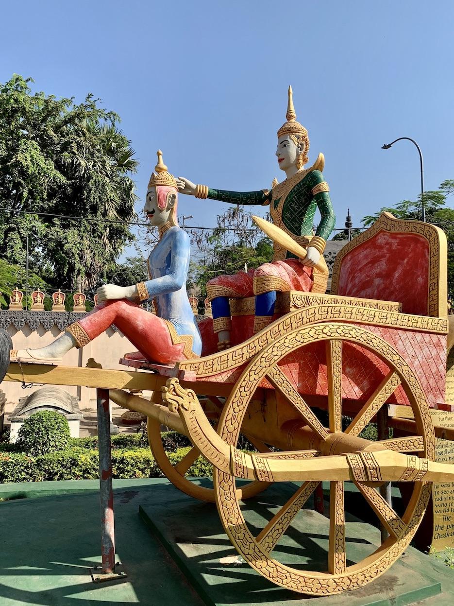 Prince Siddhartha Gautama statue Siem Reap.