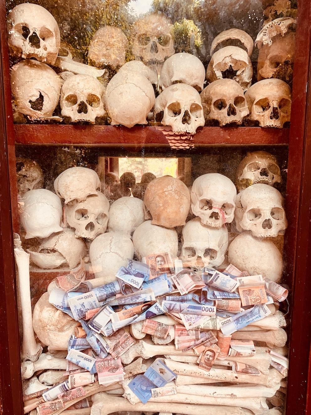 Skulls Cambodia Genocide Siem Reap.