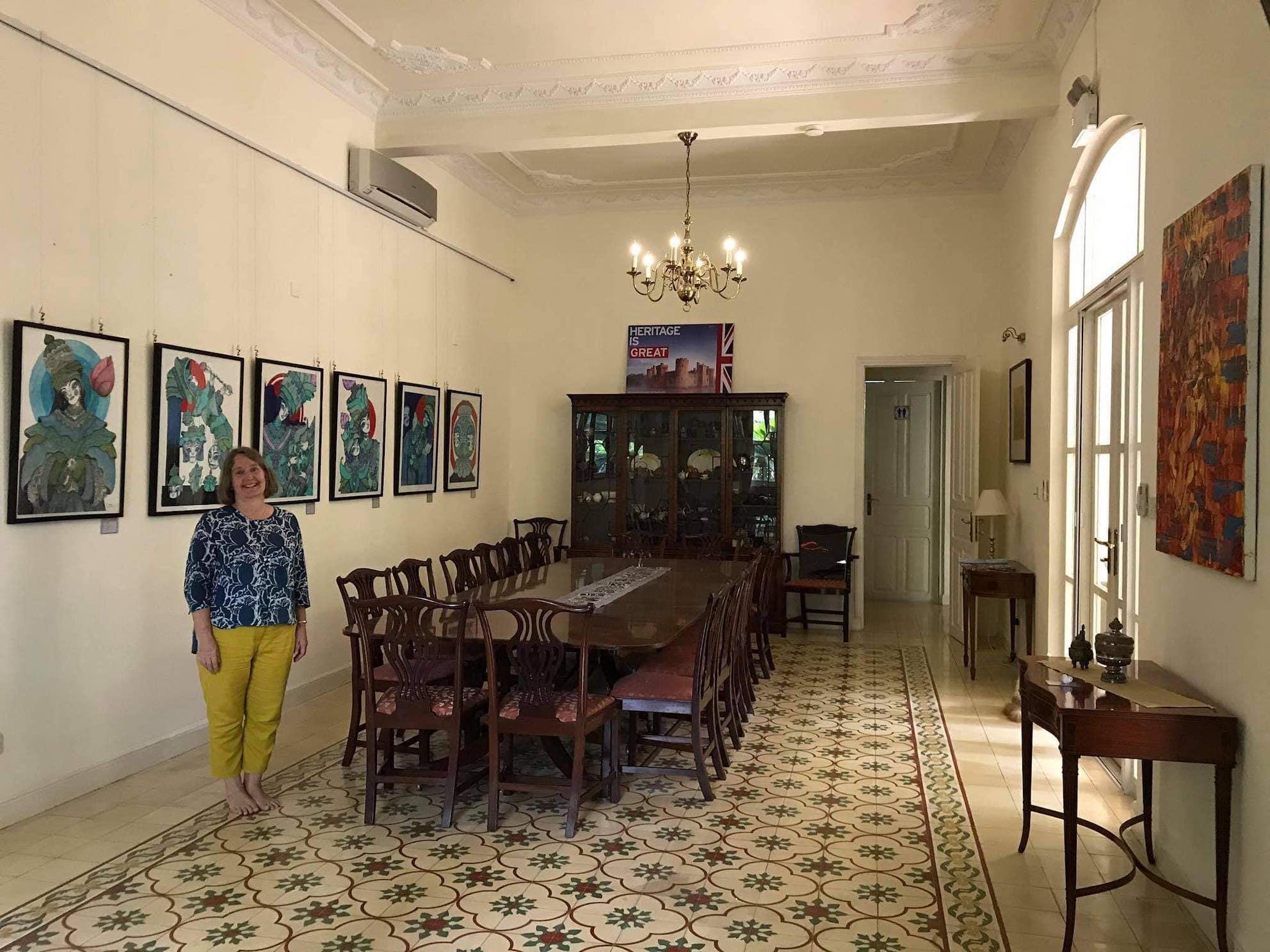 Tina Redshaw British Ambassador to Cambodia.