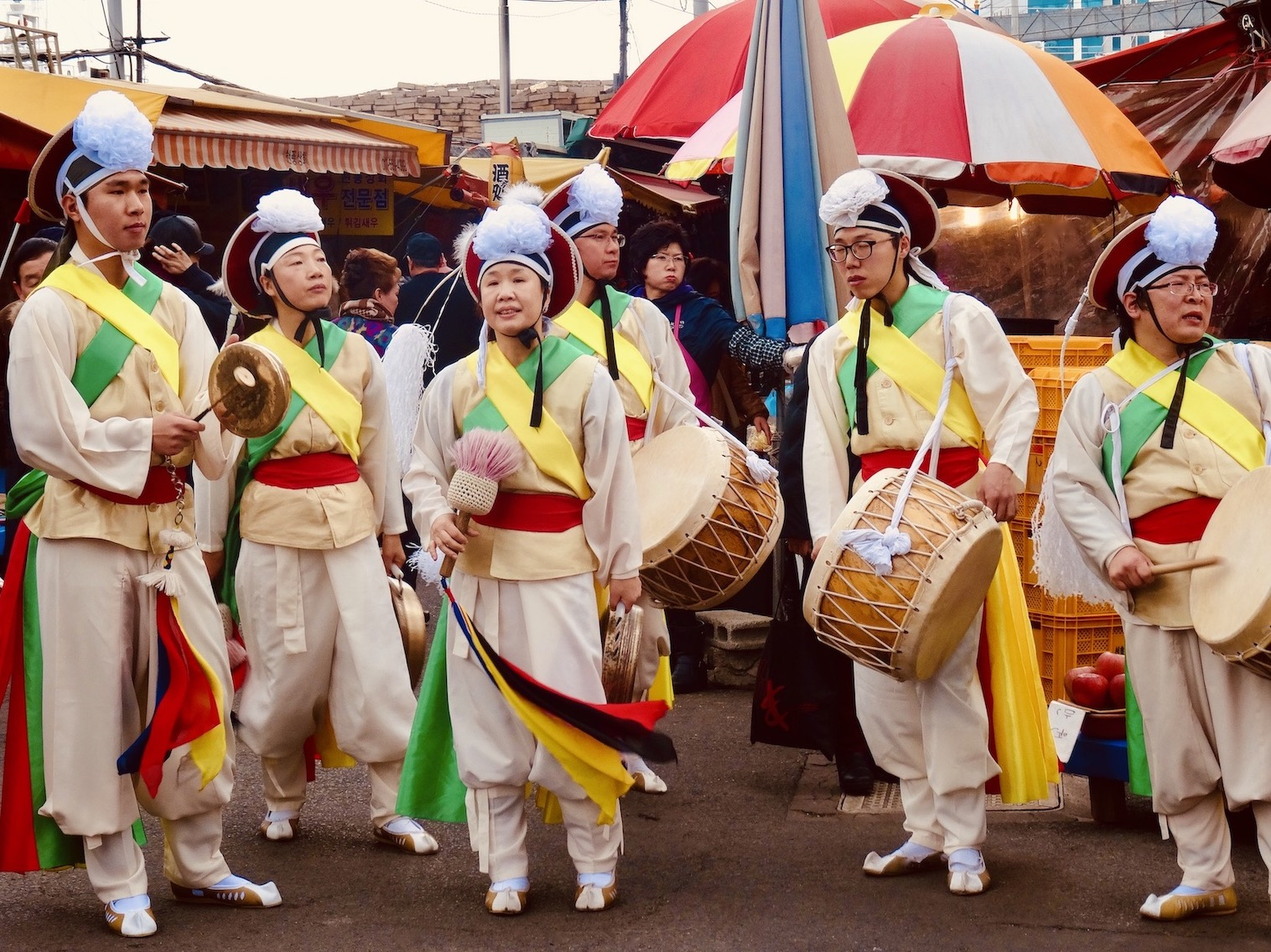 Traditional Korean music Busan South Korea.