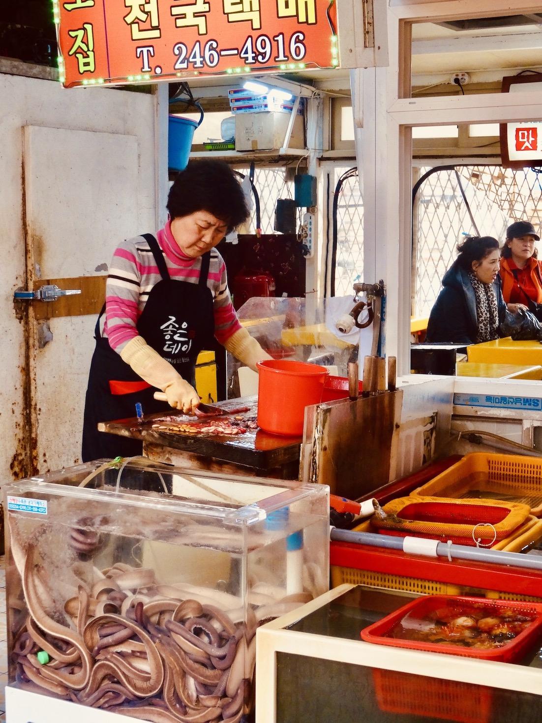 fish market Busan.