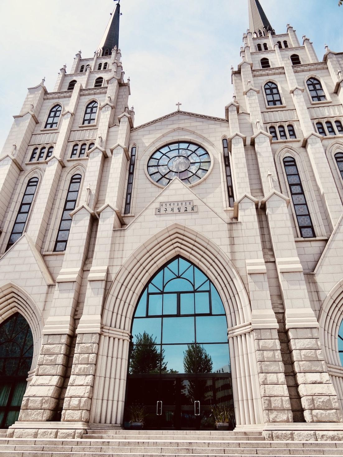 Beautiful church Daegu South Korea.