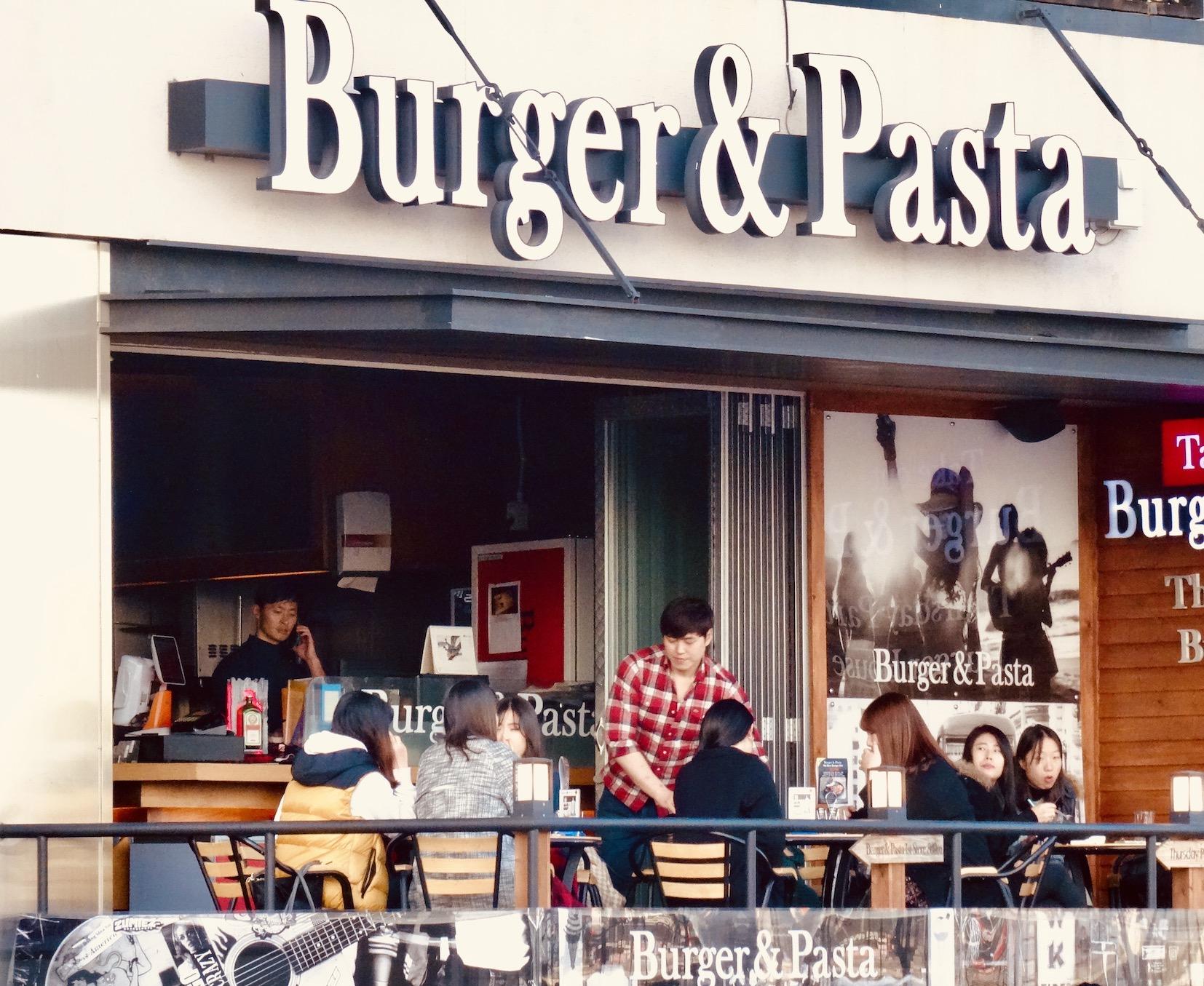 Burger & Pasta Gwangalli Beach Busan.