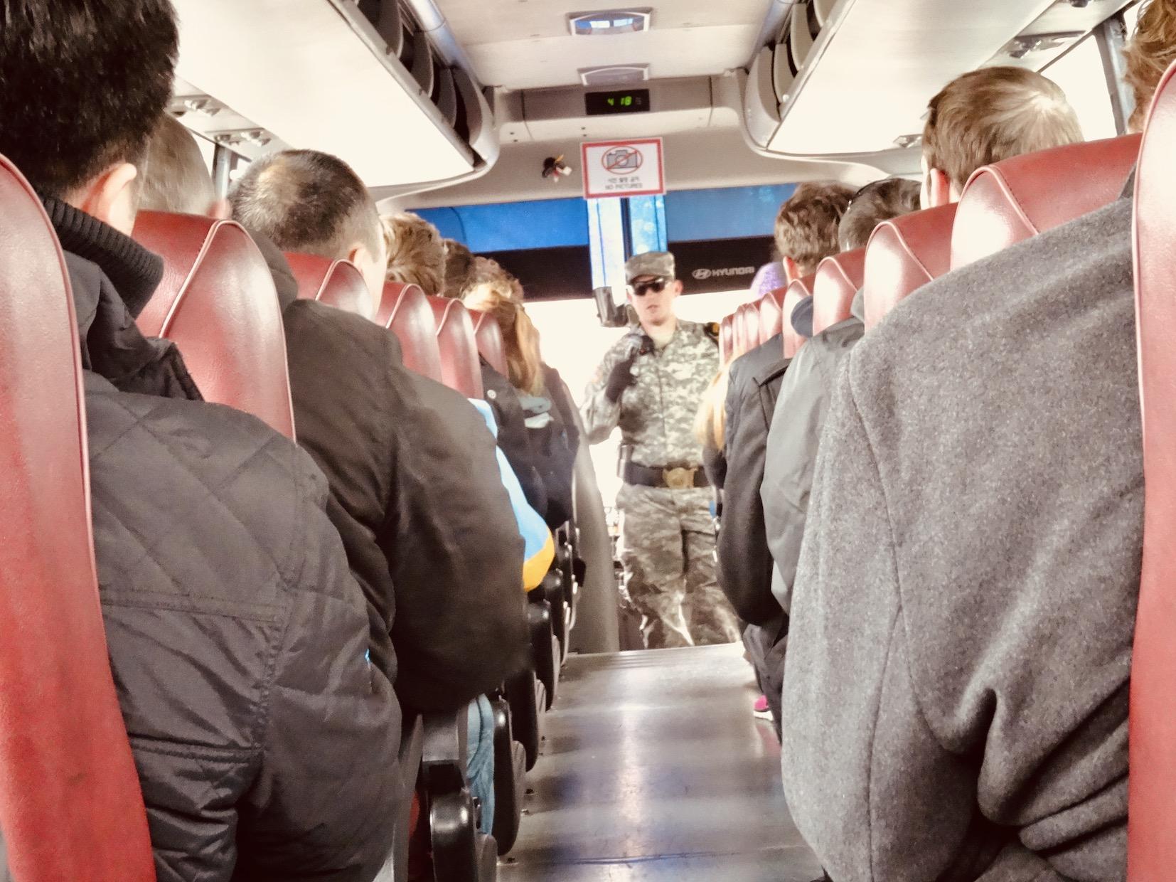 Bus tour DMZ South Korea.