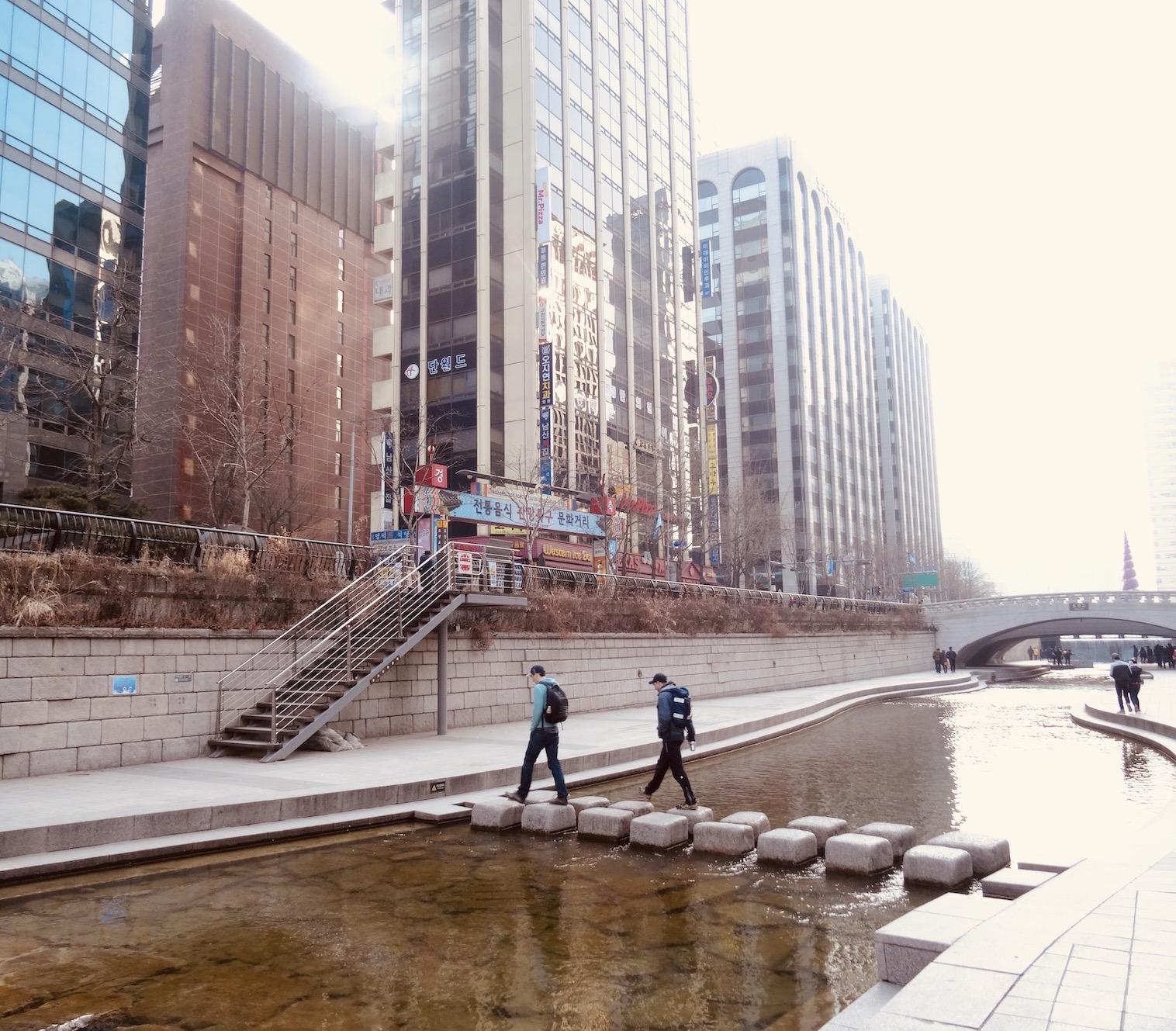 Cheonggyecheon Stream Seoul.