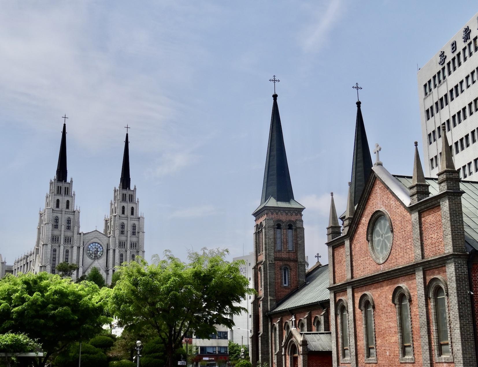 Churches in Daegu South Korea.