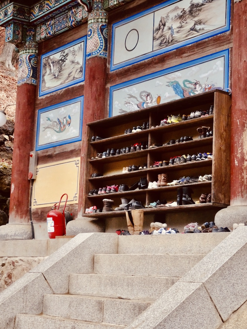 Entrance steps Yongmunsa Temple.