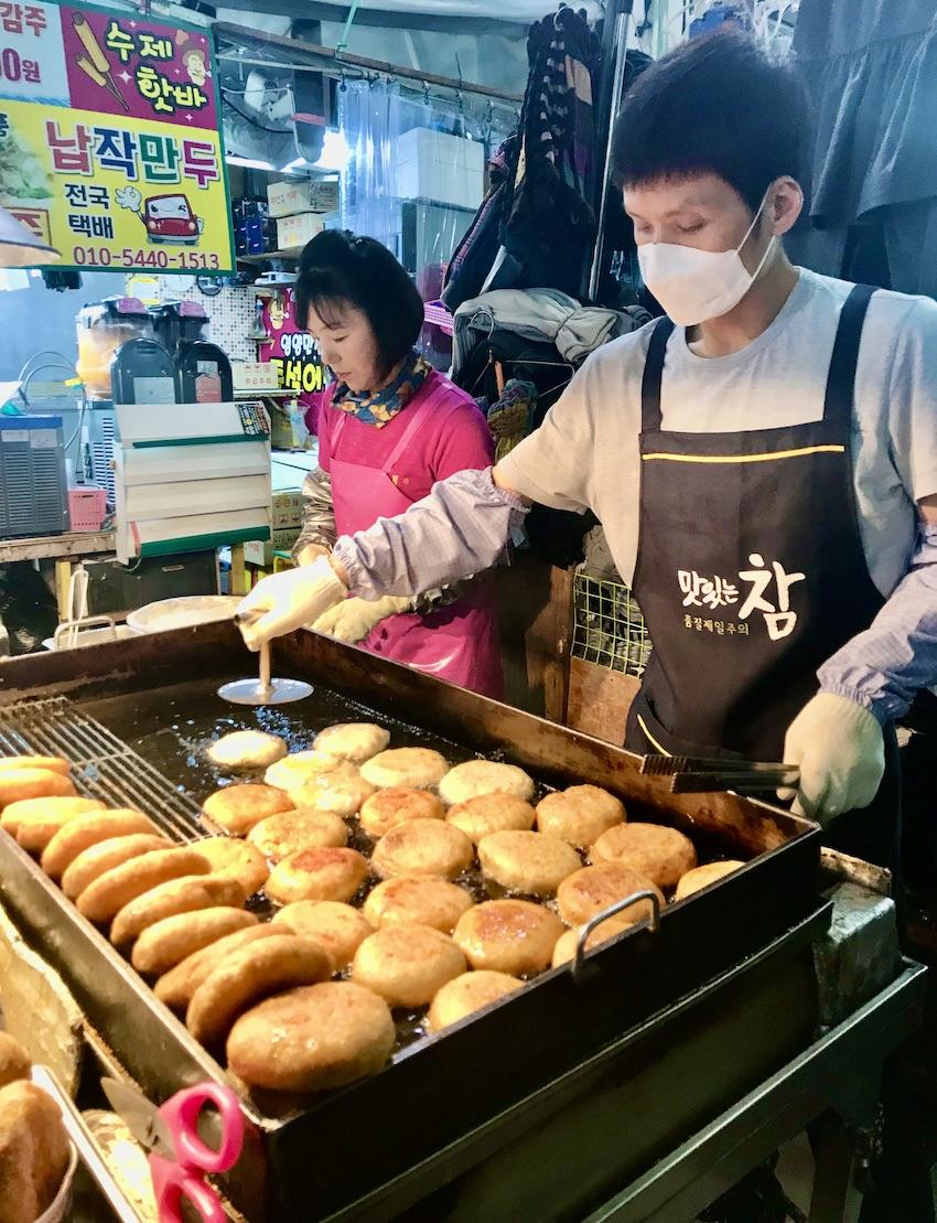 Hotteok pancakes Seomun Night Market.