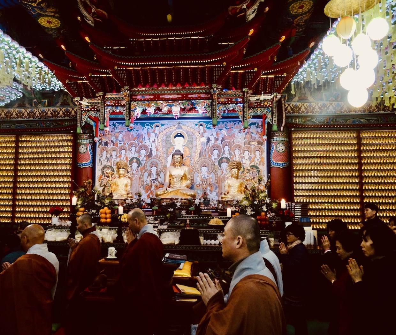 Inside Yongmunsa Temple.