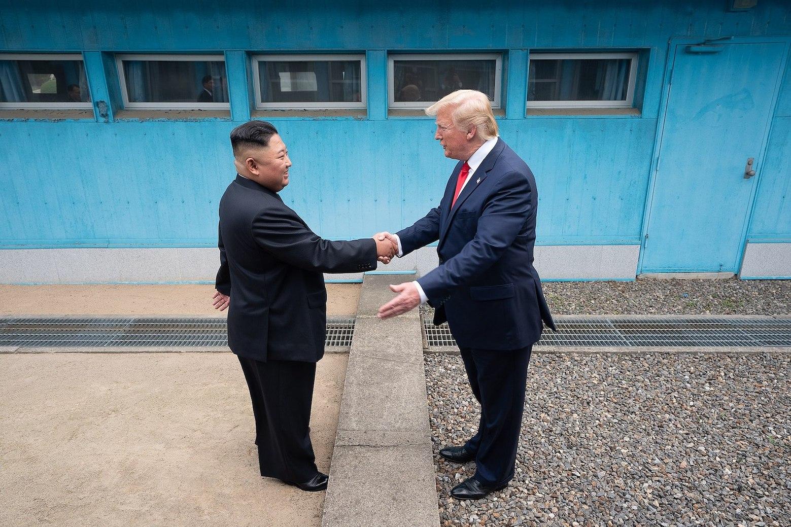 President Trump and Kim Jong-un The DMZ.