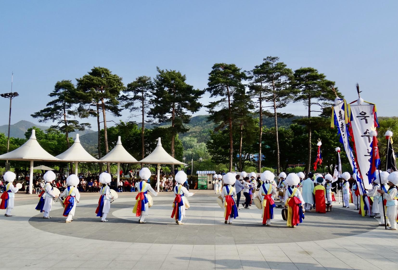 Pungmul performance Daegu South Korea.