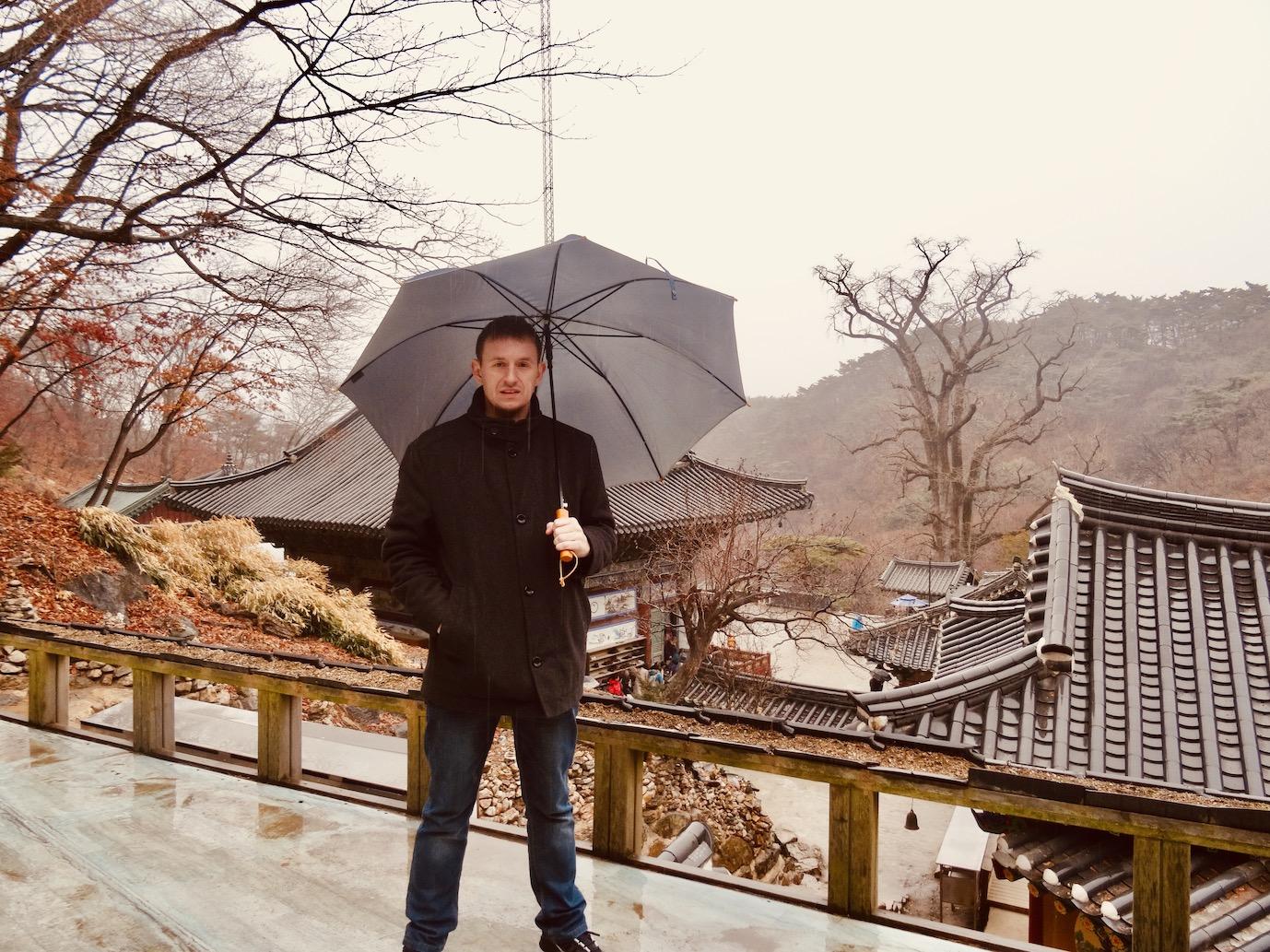 Rainy day Yongmunsa Temple.