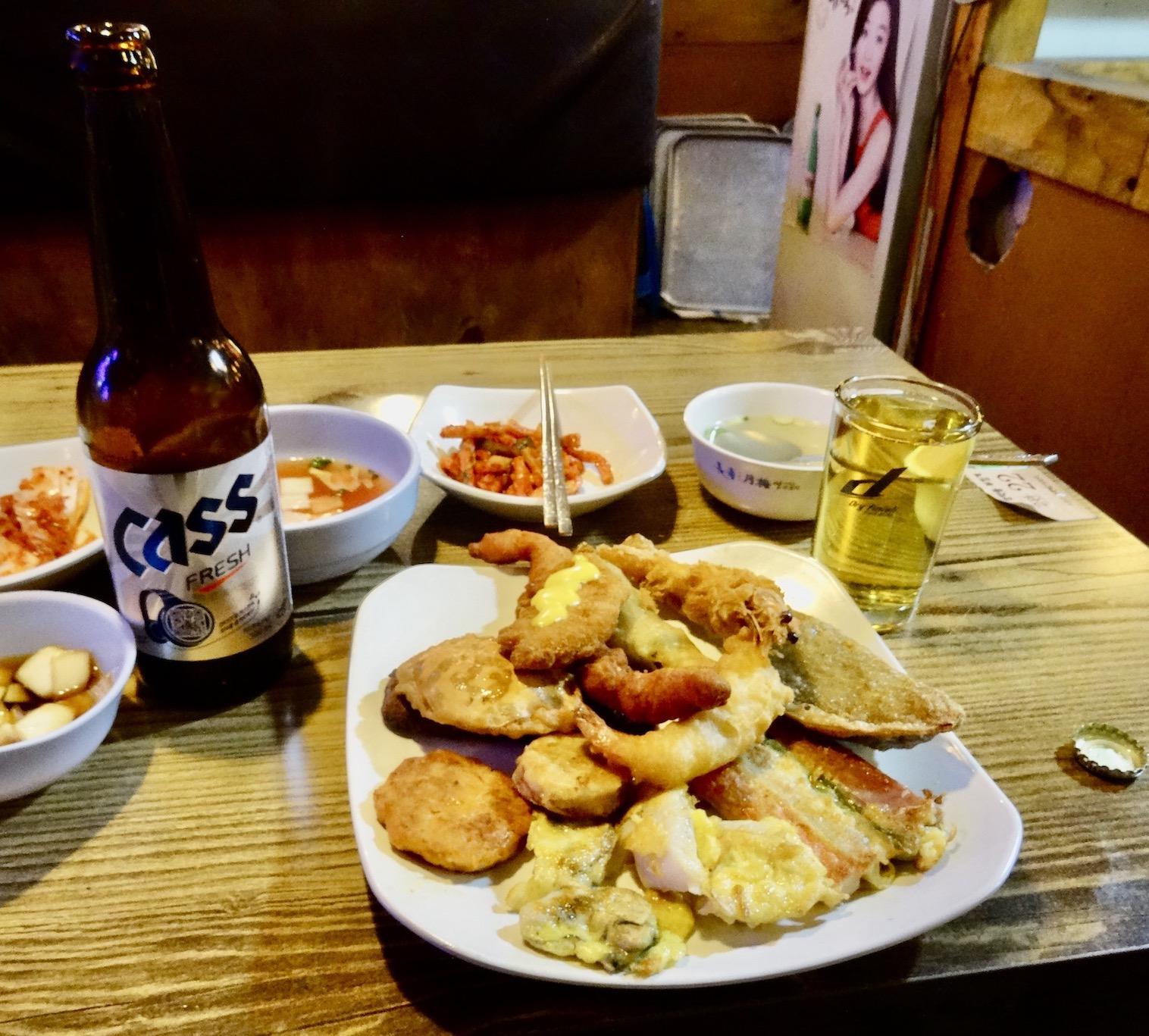 Seafood dinner Gongdeok Market.