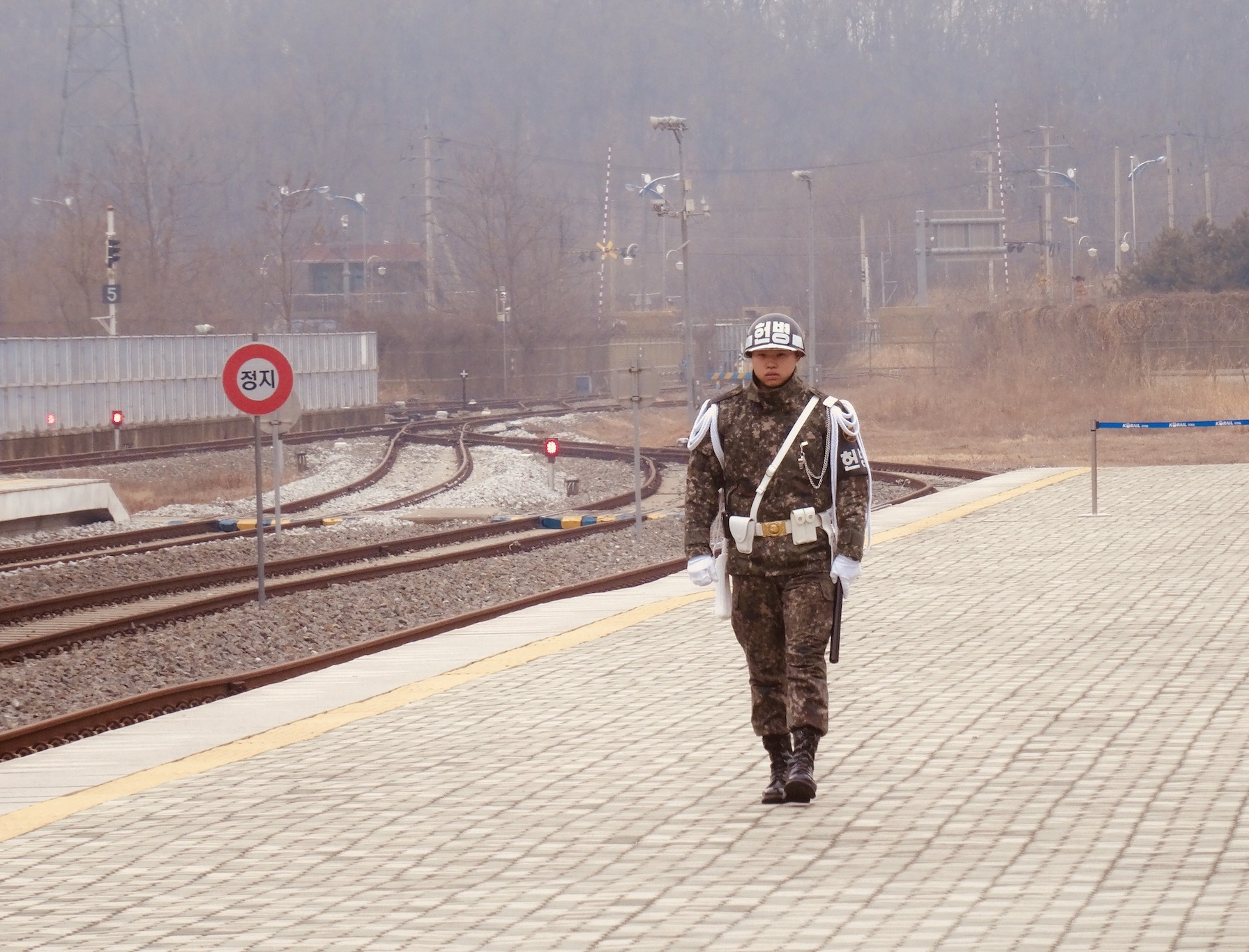 Soldier Dorasan Station DMZ South Korea