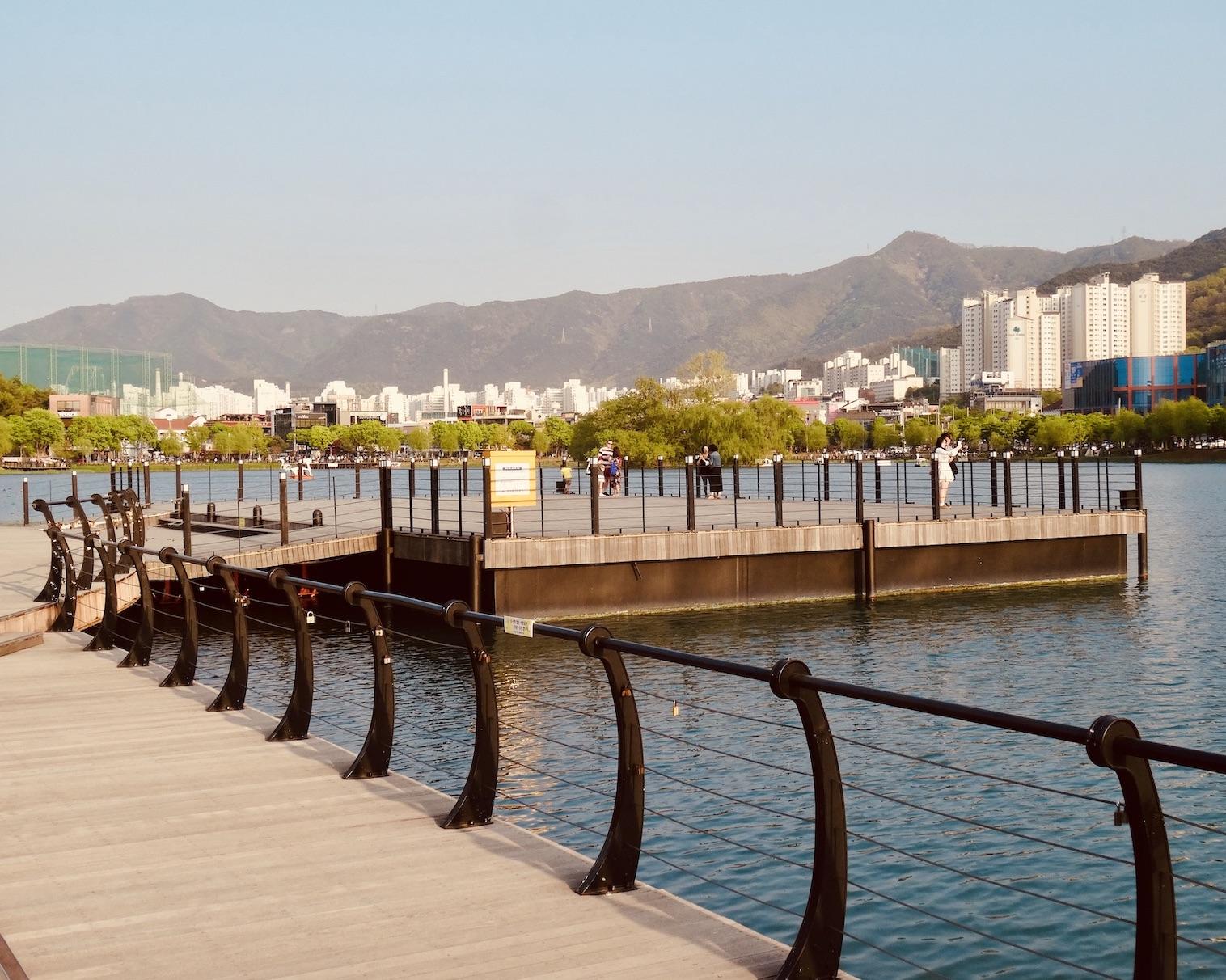 Suseong Lake in Daegu.