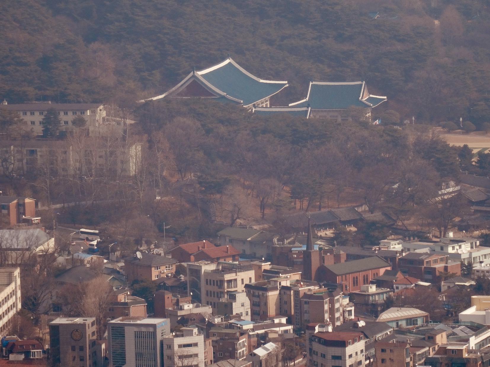 The Blue House Seoul.