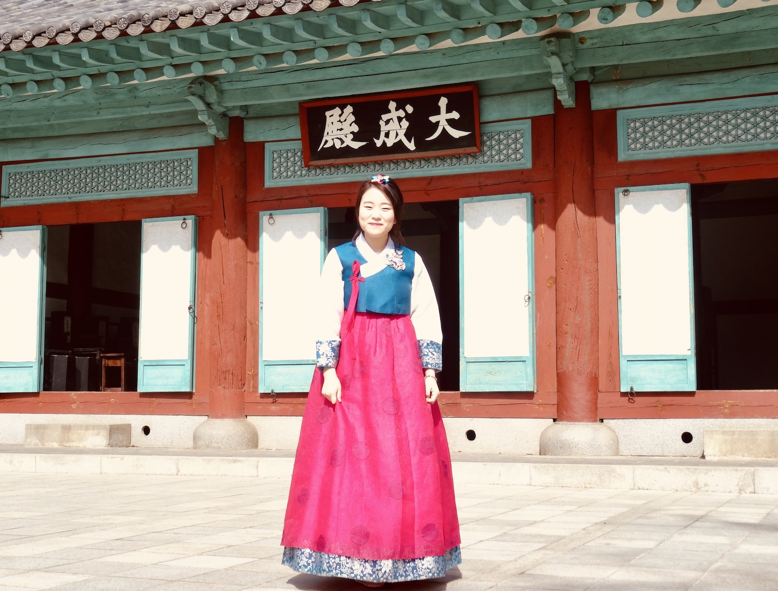 Traditional hanbok dress Jeonju South Korea.