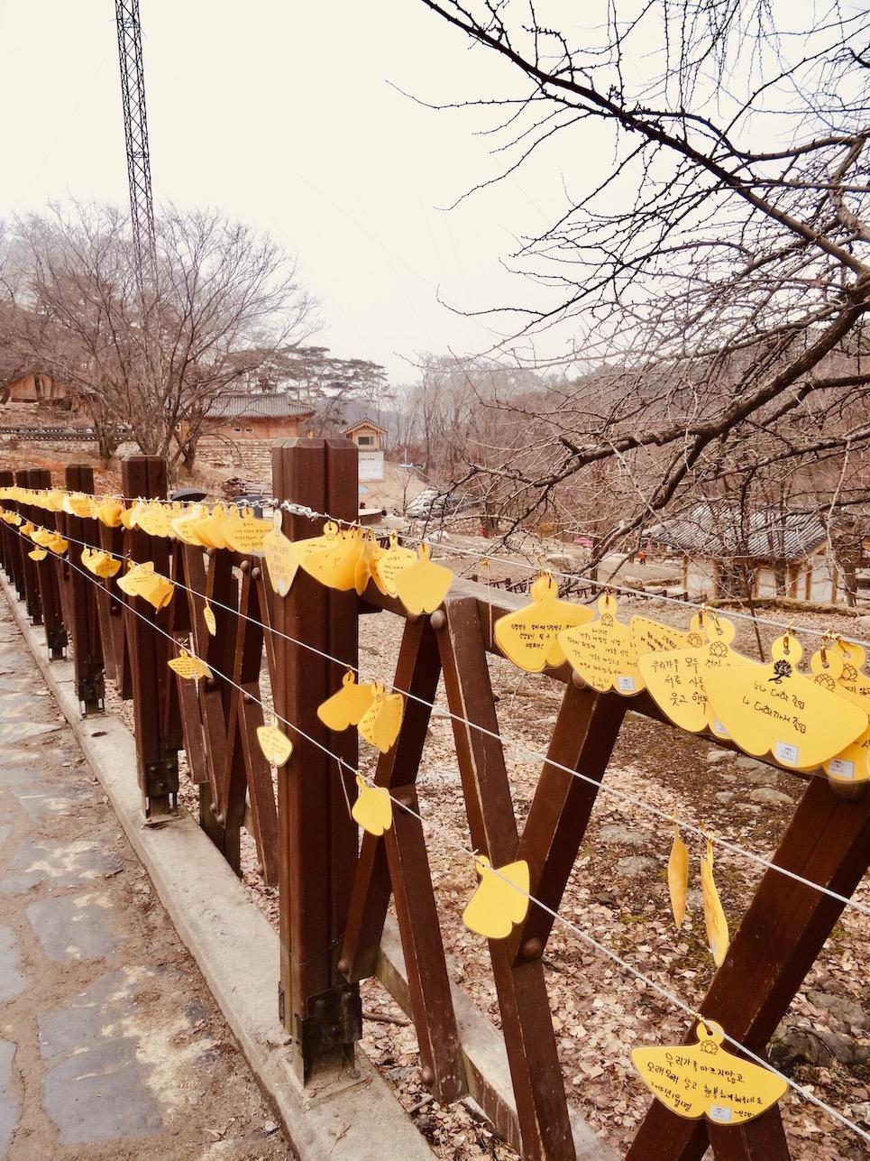 Written wishes Yongmunsa Temple South Korea.