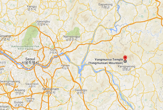 Yongmunsan Mountain.