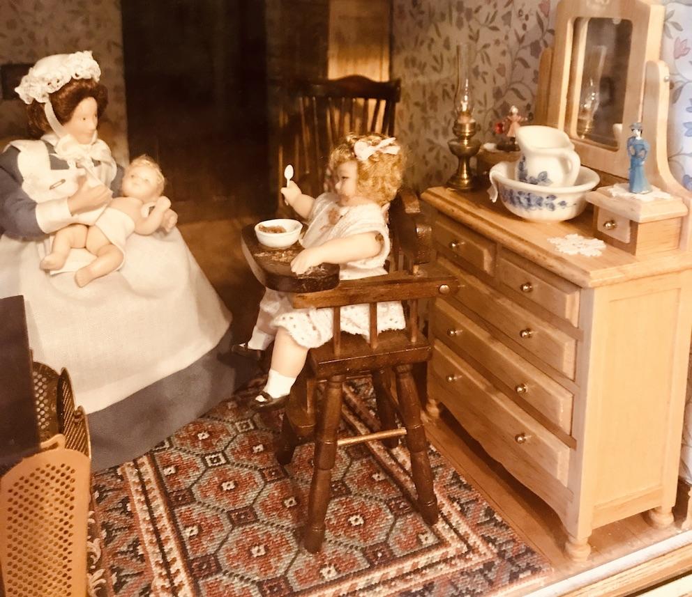 Antique miniature dolls Colchester England.